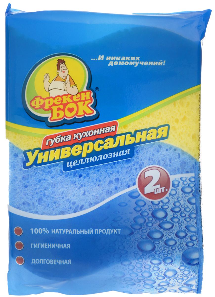 Губка для мытья посуды Фрекен Бок, универсальная, цвет: желтый, синий, 2 штKOC_SOL249_G4Набор Фрекен Бок, изготовленный из мягкого поролона с абразивными материалами, состоит из 2 губок. Изделия предназначены для уборки и мытья посуды. Они идеально удаляют жир, грязь и пригоревшую пищу. Размер губки: 10 х 7 х 2,5 см.