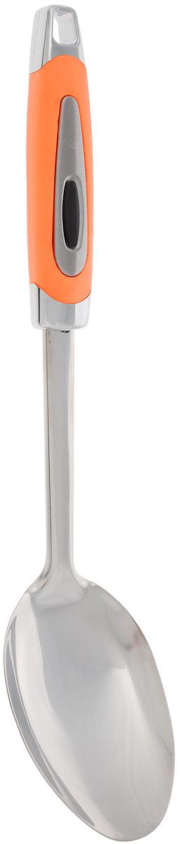 Ложка кулинарная Gotoff, длина 31,5 см94672Кулинарная ложка Gotoff изготовлена из высококачественной нержавеющей стали и пластика. Удобная рукоятка оснащена прорезиненной вставкой и отверстием для подвешивания.Практичная и удобная ложка займет достойное местосреди ваших кухонных принадлежностей.Длина ложки: 31,5 см.Размер рабочей части ложки: 10,5 х 7 см.