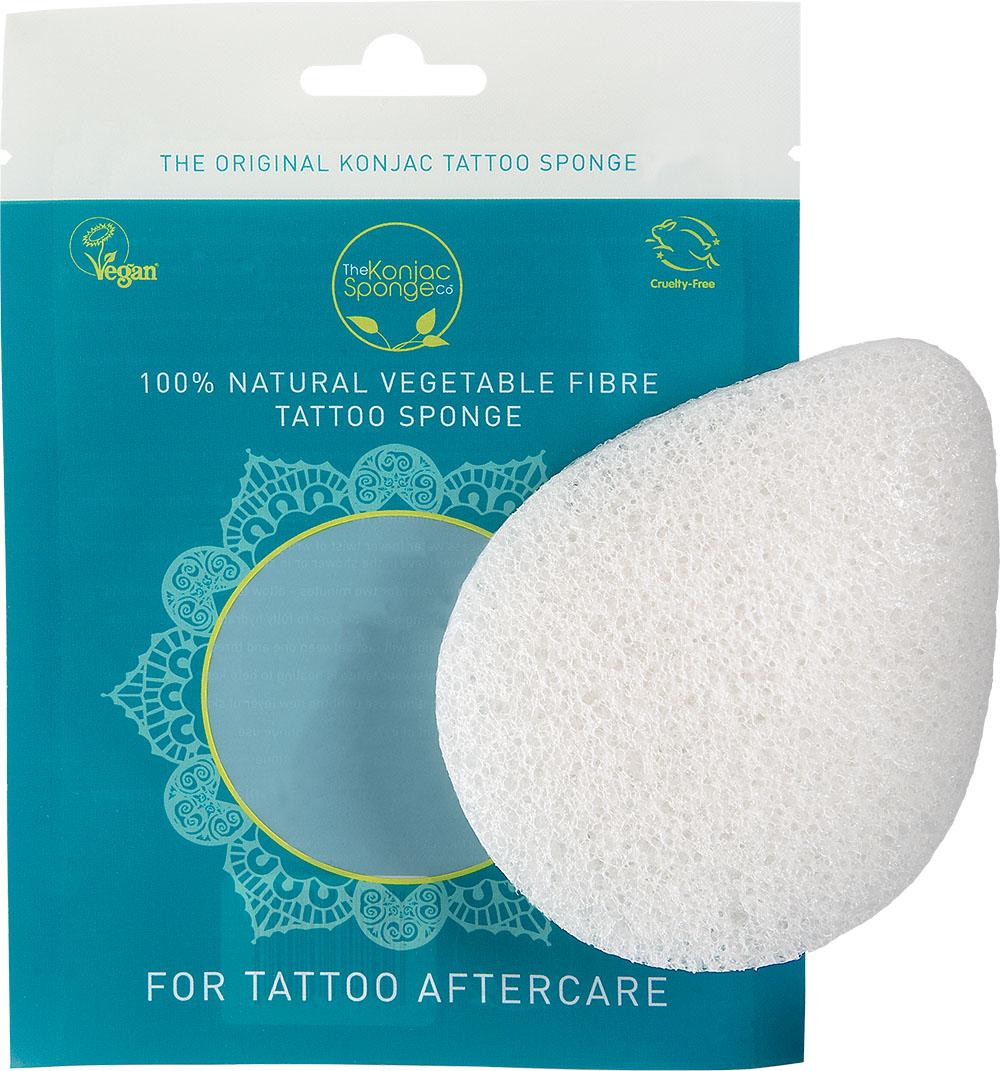 The Konjac Sponge Co Спонж для мытья тела The Tattoo Sponge28032022Полностью натуральный спонж из растительной клетчатки для мытья тела. Не содержит химикатов, красителей, аллергенов. На 100% биоразлагаемый. Используется во влажном состоянии. Размер – ок. 11 см (без учета упаковки).