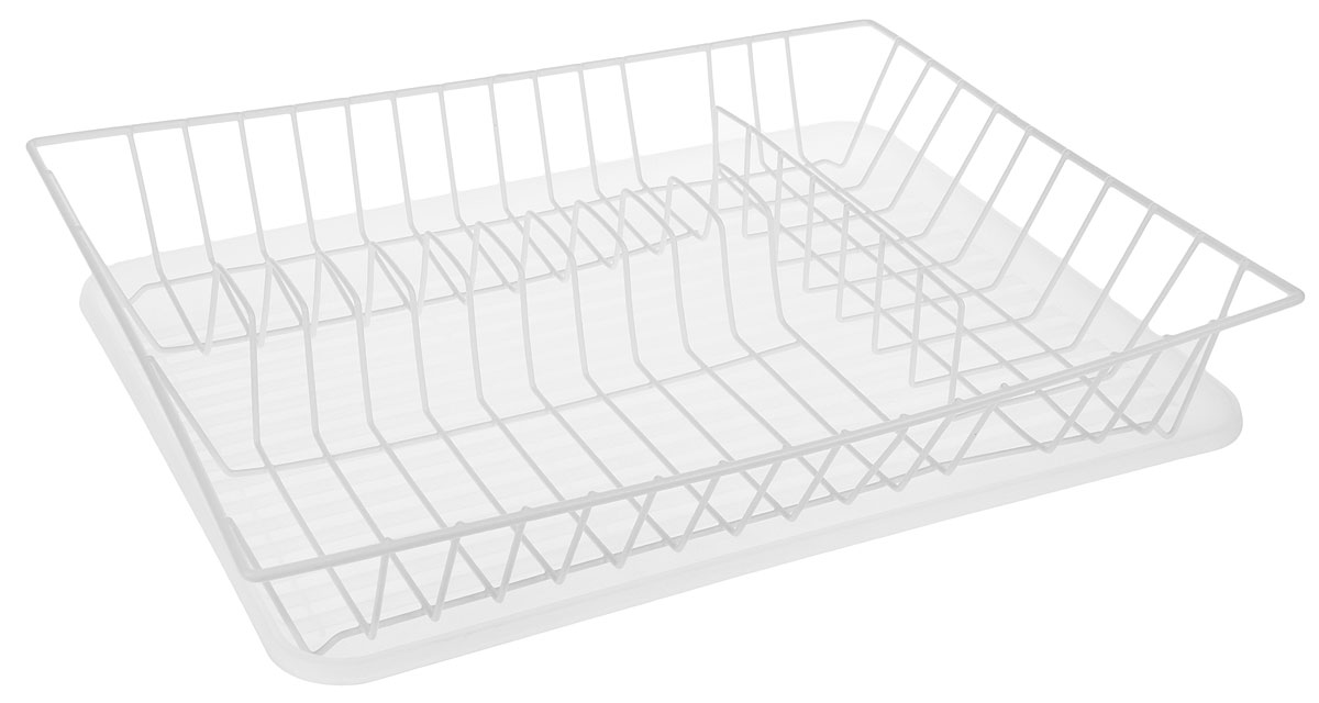 Сушилка для посуды Walmer, с поддоном, цвет: прозрачный, белый, 43,5 x 33,5 x 8 смFD 992Сушилка Walmer, изготовленная из стали, представляет собой решетку с ячейками для посуды. Изделие оснащено пластиковым поддоном для стекания воды. Сушилка не займет много места на вашей кухне. Вы сможете разместить на ней большое количество предметов. Компактные размеры и оригинальный дизайн выделяют эту сушилку из ряда подобных.Размер сушилки: 43,5 х 33,5 х 8 см.Размер поддона: 43 х 32,5 х 2,5 см.
