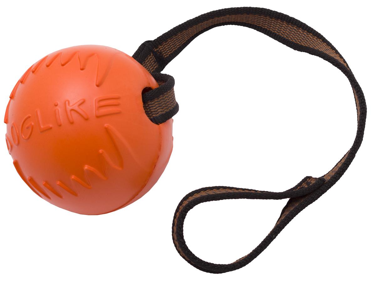 Игрушка для животных Doglike Мяч с лентой, диаметр 8,5 см0120710Сохраняет эластичность -50 +50,Усиленная формула материала,Не тонет в воде,Безопасно для зубов собаки,Экологически чистый материал,Производство РоссияДлина ленты: 70 см