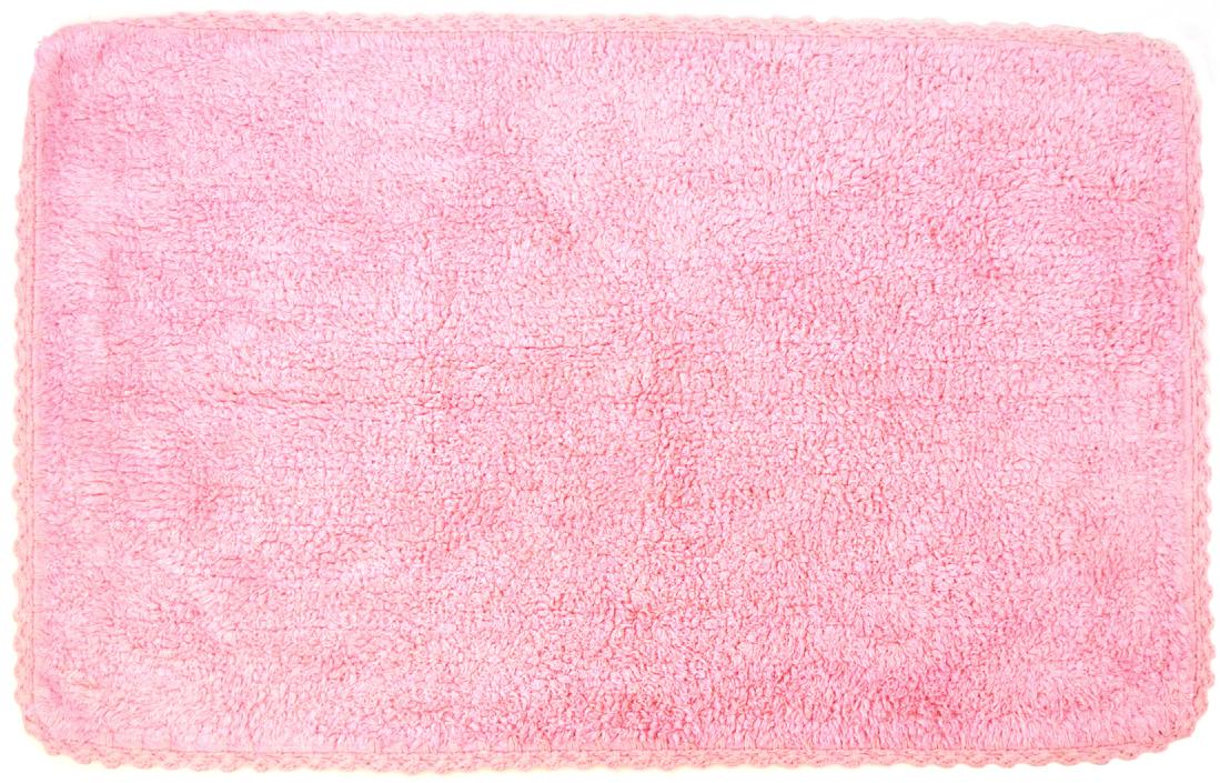 Коврик для ванной Modalin Hacri, цвет: грязно-розовый, 50 х 80 см391602Коврик для ванной Modalin Hacri выполнен из высококачественного хлопка. Изделие долго прослужит в вашем доме, добавляя тепло и уют, а также внесет неповторимый колорит в интерьер ванной комнаты. Кромка выполнена под кружево.