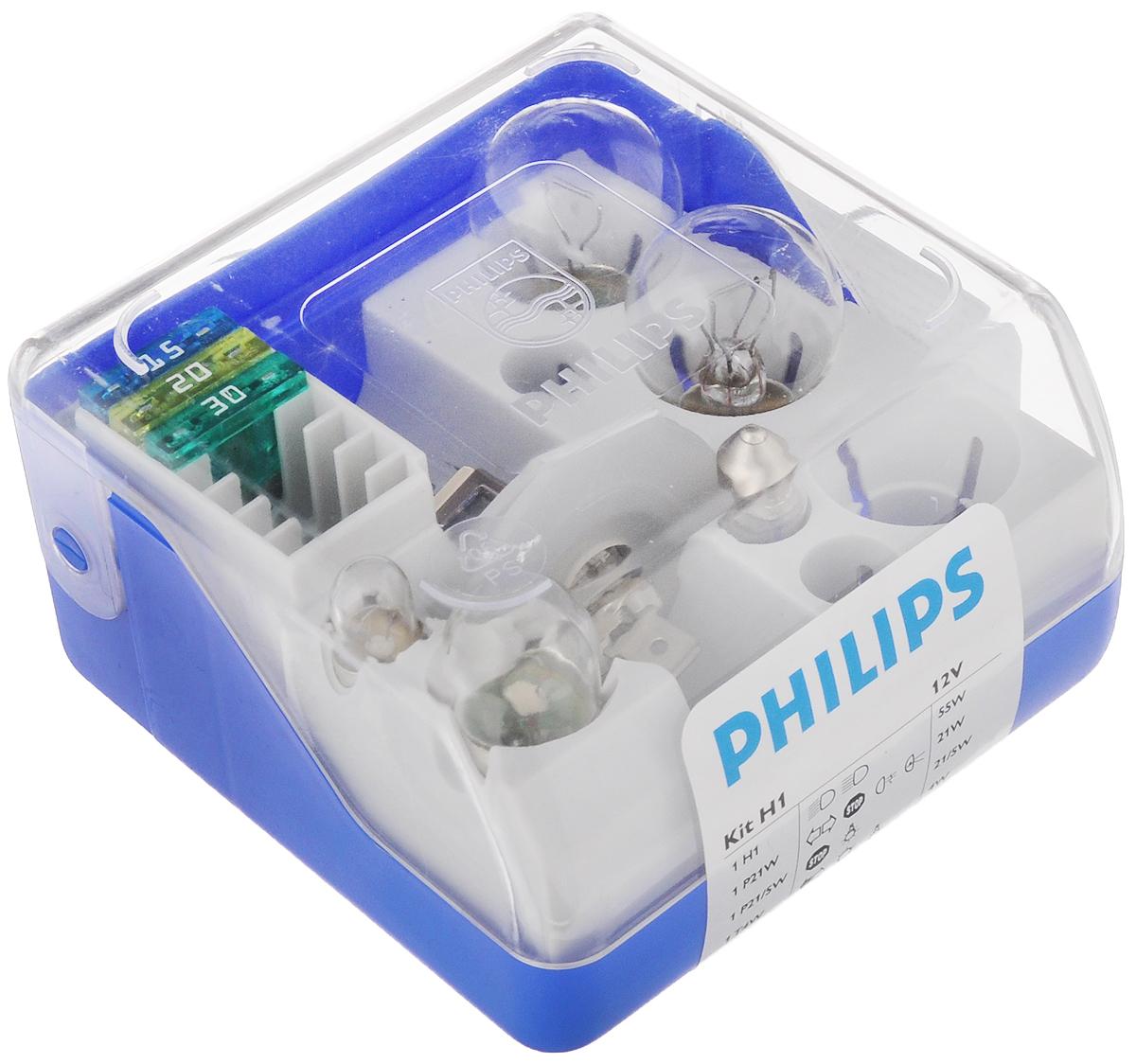 Набор автомобильных ламп Philips, 9 предметов10503В комплект Philips входят лампы для автомобильных фар, обеспечивающие на 30% больше света. Лампы излучают мощный точно направленный луч света и характеризуются высокой светоотдачей, увеличивая видимость вашего автомобиля на дороге.Состав набора:1 H1: 55 Вт.1 P21W: 21 Вт.1 P21/W: 21/5 Вт.1 T4W: 4 Вт.1 R5W: 5 Вт.1 C5W: 5 Вт.3 предохранителя: 15 А, 20 А, 30 А.