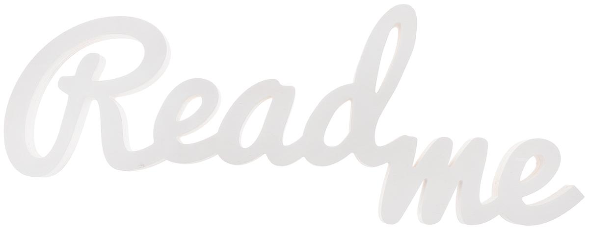 Табличка декоративная Magellanno ReadMe2, цвет: белый, 61 х 23 см54 009312Декоративная табличка Magellanno ReadMe2,выполненная из фанеры, идеально подойдет кинтерьерам в стиле лофт, прованс, шебби-шик, тем самымукрасив любую комнату в вашем доме.Именно такие уютные и приятные мелочи позволяют называтьпространство, ограниченное четырьмя стенами, домом.Также табличка Оранжевый Слоник ReadMe2 способнадополнить вашу фотосессию, придав ей оригинальности и смысла.Размер таблички: 61 х 23 см.Толщина таблички: 1,8 см.