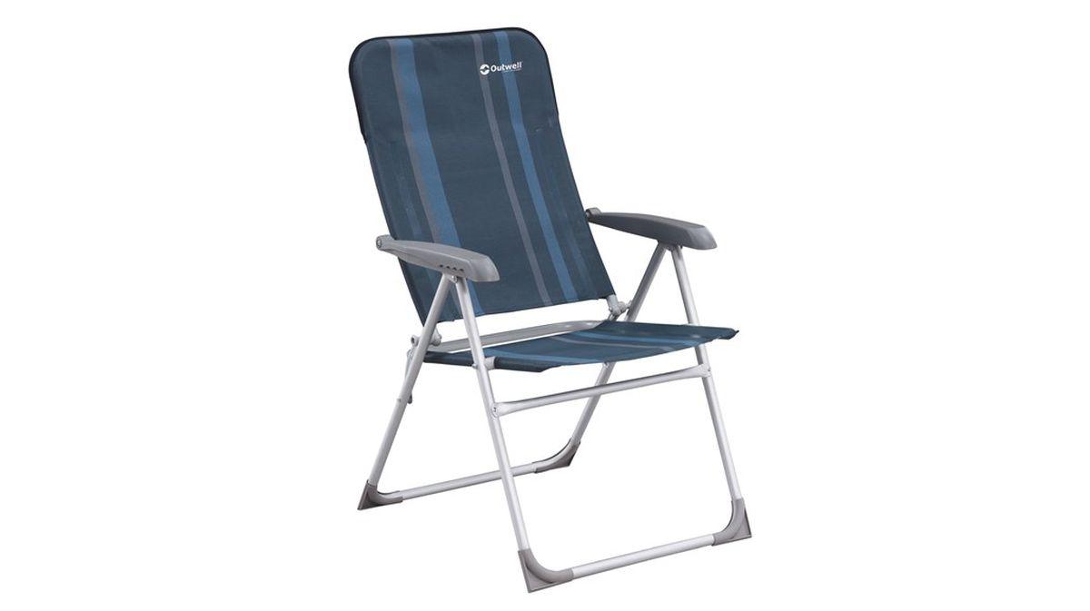 Кресло складное Outwell Fergus, цвет: серый, синий, 58 х 65 х 103 см410027Кресло складное Outwell Fergus имеет изящный дизайн со стильным рисунком ткани в современных цветах. Каркас из прочного алюминия и высококачественный износостойкий полиэстер являются основой надежной эксплуатации изделия. Имеется 5 положений наклона. Кресло оснащено пластиковыми подлокотниками. На ножках имеются пластиковые накладки, не царапающие поверхность.