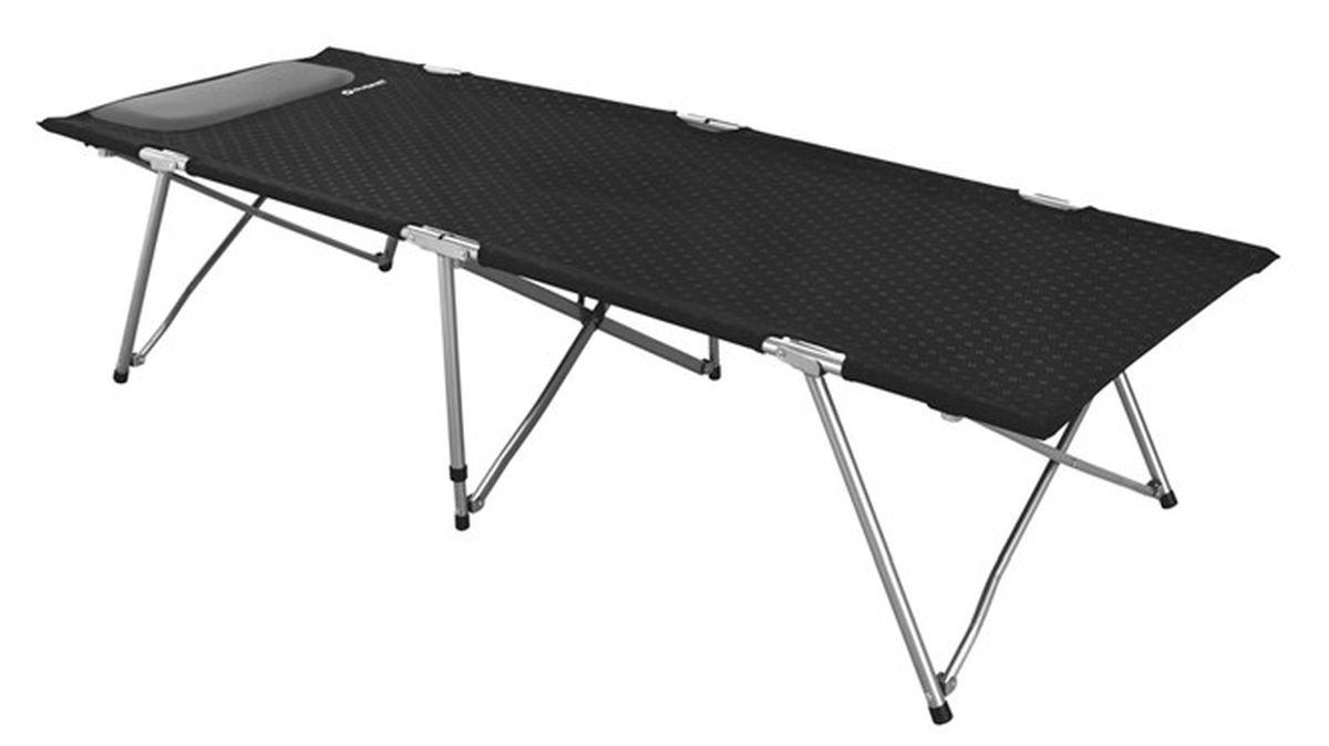 Кровать раскладная Outwell Posadas Foldaway Bed Single, цвет: черный, серый, 192 х 66 х 45 см552996Раскладушка Outwell Posadas Foldaway Bed Single – это ценная вещь в походе, дома или на даче. Качество изготовления раскладной кровати обеспечит вам комфорт во время сна, где бы вы ни находились. Каркас изготовлен из прочного металла, спальная часть текстильная. Кровать имеет небольшой вес, просто складывается и очень легкая. Пластиковые накладки на ножках не царапают пол.