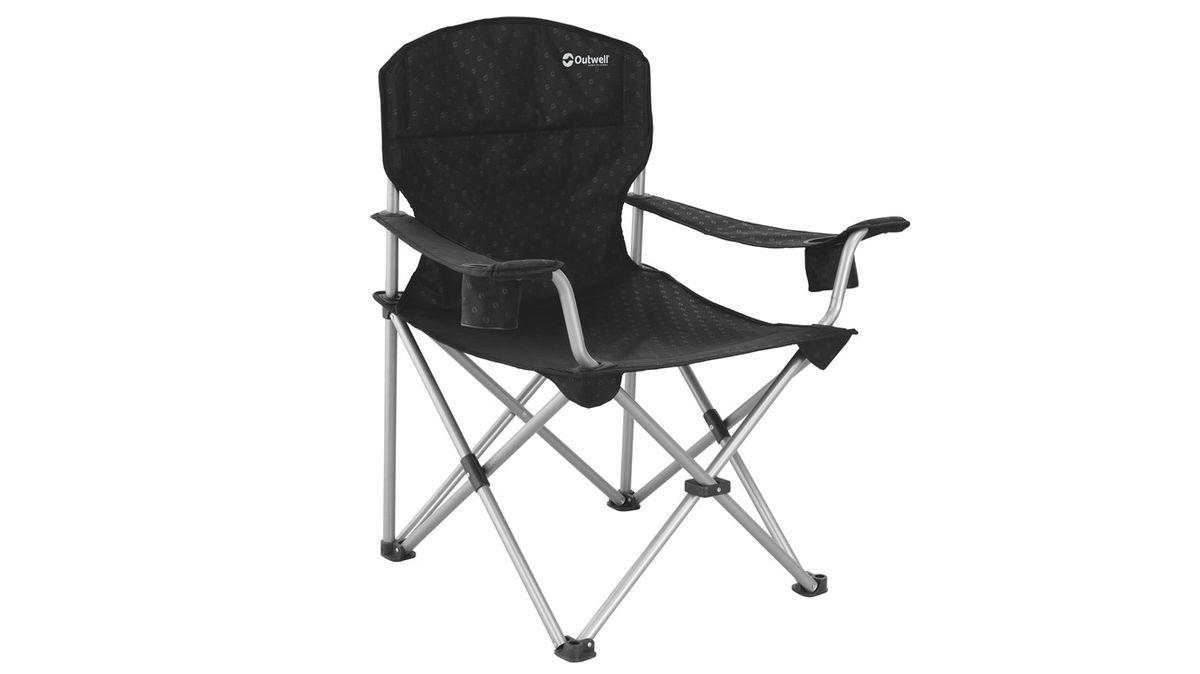 Кресло складное Outwell Catamarca Arm Chair, цвет: черный, 90 х 62 х 96 см470048Кресло складное Outwell Catamarca Arm Chair имеет изящный дизайн со стильным рисунком ткани в современных цветах. Каркас изделия выполнен из прочного металла с порошковым покрытием. Подлокотники выполнены из прочного текстиля. На одном из подлокотников имеется небольшой подстаканник.В сложенном виде кресло занимает мало места.