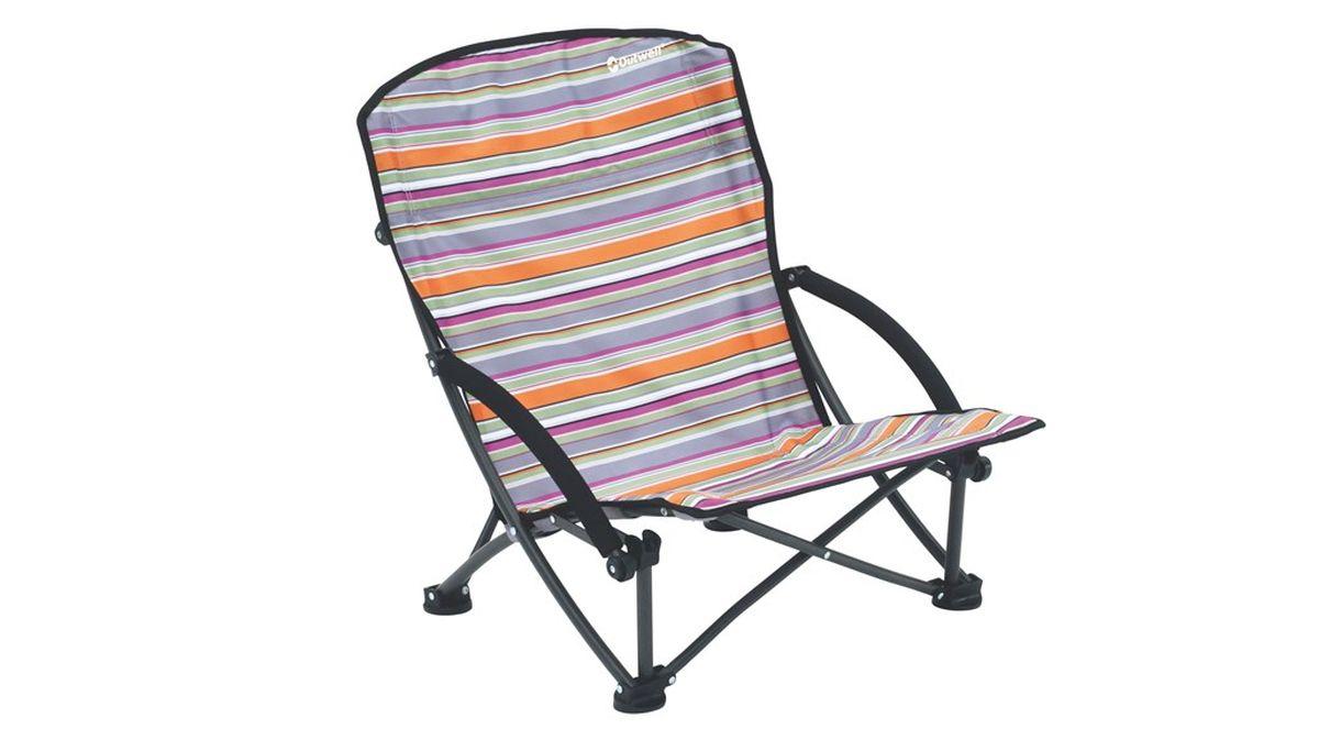 Кресло складное Outwell Azul Summer, цвет: серый, белый, оранжевый, 56 х 53 х 68 см470200Кресло складное Outwell Azul Summer имеет изящный дизайн со стильным рисунком ткани в современных цветах. Каркас из высокопрочной стали и высококачественный износостойкий полиэстер являются основой надежной эксплуатации изделия. На ножках имеются пластиковые накладки, не царапающие поверхность.