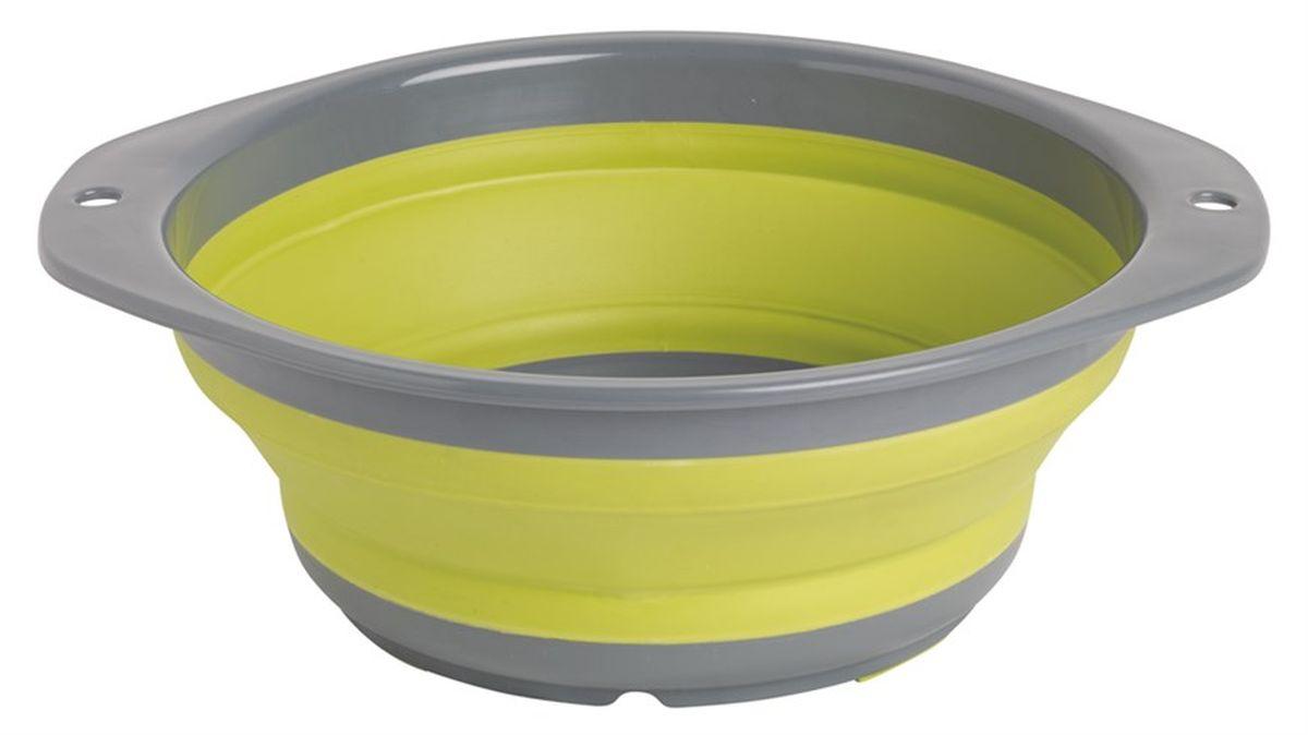 Миска складная Outwell Collaps Bowl M, цвет: зеленый, серый650113Складная миска Outwell Collaps Bowl L выполнена из высококачественного силикона. В сложенном виде она занимает совсем мало места! Из сложенного состояния она раскрывается, превращаясь во вместительную миску. Силикон не вступает в реакцию с пищей и не выделяет вредных веществ. Миска легкая и прочная, ее невозможно разбить.Размер в сложенном виде: 23,5 х 23,5 х 4 см.Размер в разложенном виде: 23,5 х 23,5 х 9,5 см.