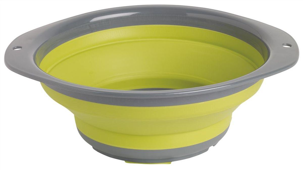 Миска складная Outwell Collaps Bowl L, цвет: зеленый, серый650114Складная миска Outwell Collaps Bowl L выполнена из высококачественного силикона. В сложенном виде она занимает совсем мало места! Из сложенного состояния она раскрывается, превращаясь во вместительную миску. Силикон не вступает в реакцию с пищей и не выделяет вредных веществ. Миска легкая и прочная, ее невозможно разбить.Размер в сложенном виде: 27,8 х 27,8 х 4 см.Размер в разложенном виде: 27,8 х 27,8 х 10,5 см.