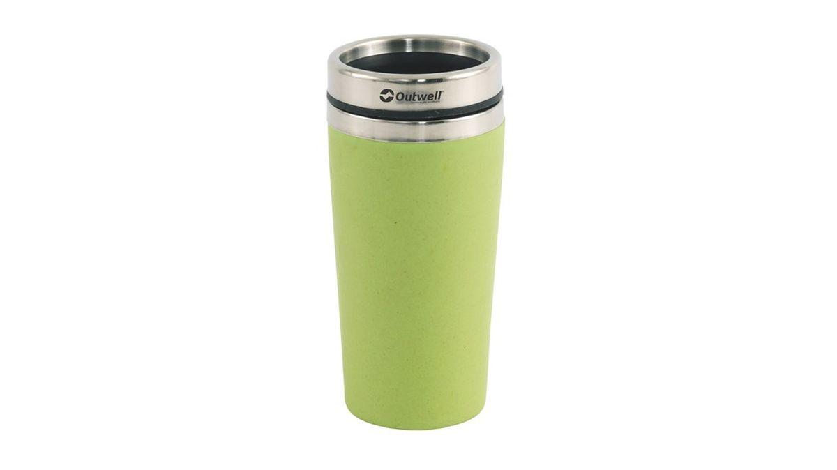 Термос Outwell Vacuum Bamboo Mug, цвет: зеленый650415Кружка-термос Outwell Vacuum Bamboo Mug Green противоударная, легко моется.