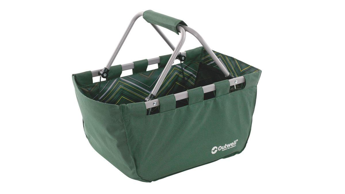 Корзина складная Outwell Folding Basket, цвет: зеленый, 50 x 29 x 25 см650456Корзина Outwell Folding Basket отлично подойдет для пикника. Изделие выполнено из прочного текстиля и имеет металлический каркас. Ее можно использовать для хранения различных вещей, брать с собой на пикник, в магазин и другие места. Корзина имеет сетчатый карман и карман на застежке-молнии. Удобная ручка помогает при транспортировке. В сложенном виде корзина занимает мало места.