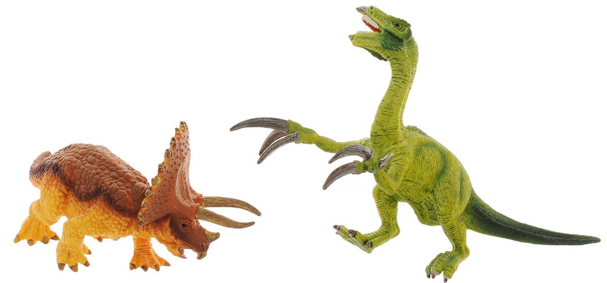 Schleich Набор фигурок Трицератопс и теризинозавр schleich набор фигурок конкуристка с лошадью 42359