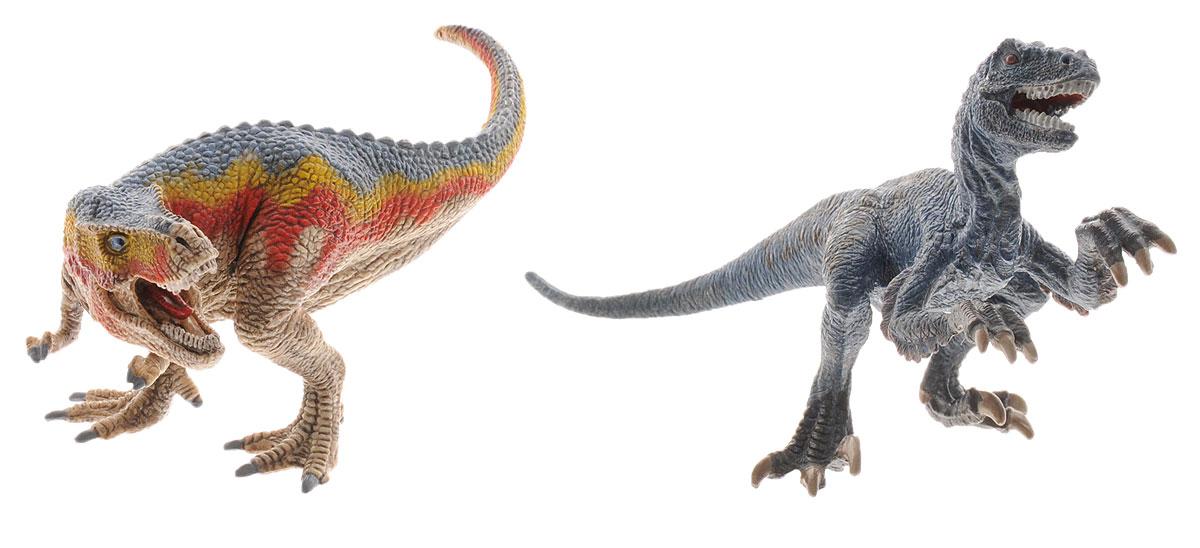 Schleich Набор фигурок Тиранозавр Рекс и Велоцераптор schleich игровой набор пещера со львом