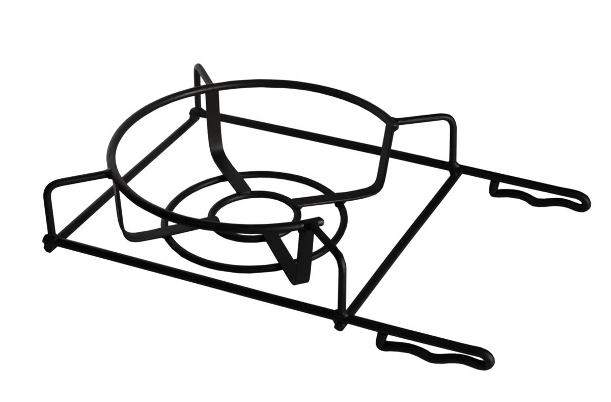 Подставка под казан Grillkoff54 009312Подставка под казан Универсальная кованая подставка под казан позволит Вам приготовить блюда на мангале, также кастрюле или сковороде.
