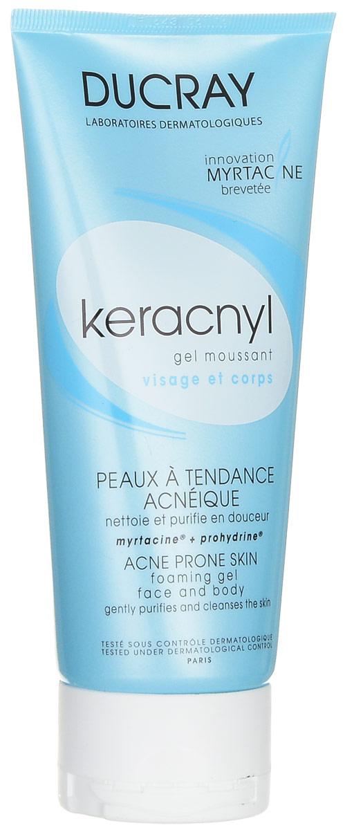 Ducray Очищающий гель Keracnyl для лица и тела, 200 млFS-00610Мягко очищает кожу. Устраняет избытки себума и загрязнения. Нормализует секрецию себума. Не сушит кожу. Не содержит мыла, обогащен комплексом Myrtacine, очищает кожу глубоко и деликатно, удаляет избыток кожного сала и нормализует его синтез. Эффективность:Чистая кожа: 96%*.Тщательно очищенная кожа: 98%*.Матовая кожа: 87%*.* Исследование проводилось в течение 6 недель с участием 47 человек с акне легкой и средней степени тяжести, применение 2 раза в день: % удовлетворенности.