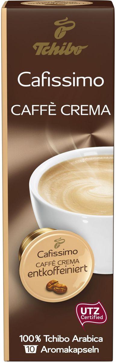 Cafissimo Caffe Crema Entkoffeiniert кофе в капсулах, 10 шт0120710Кофе в капсулах Чибо Кафиссимо Кафе крема Энткоффеиниэрт отличается мягким вкусом и нежным бархатным ароматом. Бленд без кофеина состоит из зерен 100% Арабики из разных видов: Арабика из Бразилии придает кофе приятный аромат жареных орехов и наполняет его нежным цитрусовым вкусовым букетом; Арабика из Эфиопии добавляет легких пряных ноток и длительное бархатистое послевкусие; Арабика из Гватемалы насыщает ароматом тропических цветов и сладковатым ванильным вкусом. Состав: 100 % Арабика. Содержание кофеина: 0,1%. Интенсивность: 6/10. Количество: 10 капсул по 8 г. Регион: Бразилия, Эфиопия, Гватемала. Хранить в сухом прохладном месте