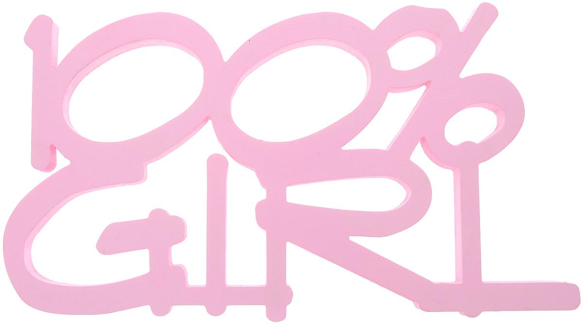 Табличка декоративная Magellanno 100% Girl, цвет: розовый, 48 х 26 см54 009303Декоративная табличка Magellanno 100% Girl,выполненная из фанеры, идеально подойдет к интерьерам в стиле лофт, прованс, шебби-шик, темсамым украсив любую комнату в вашем доме.А также табличка Оранжевый Слоник 100% Girl способна дополнить вашу фотосессию, придав ей оригинальности и смысла.Изделие ручной работы.Размер таблички: 48 х 26 см.Толщина таблички: 1,8 см.