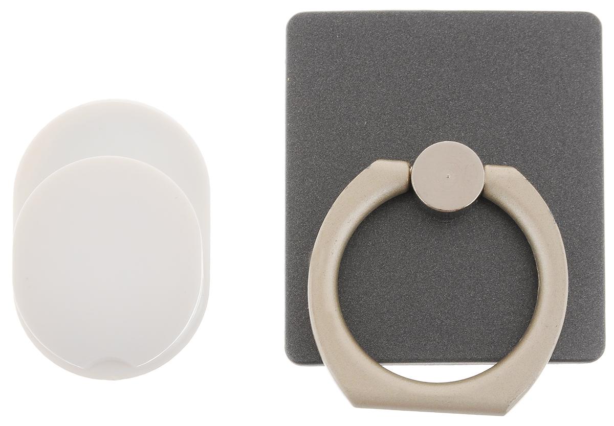 Держатель телефона Оранжевый слоник ACL, с кольцом, цвет: черный, белый10000000162Держатель телефона Оранжевый Слоник ACL, изготовленный из пластика и металла, позволит надежно и безопасно закрепить ваш телефон в необходимом месте. Это практичный и функциональный аксессуар, который порадует любого. Размер держателя: 3,5 х 4 см. Диаметр кольца: 2,15 см.