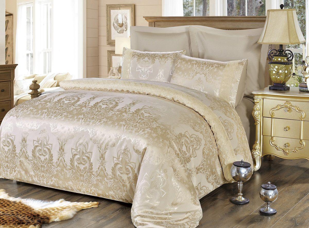 Комплект белья Modalin, 2-спальный, наволочки 50х70, 70x70. 5061Б109Комплект постельного белья Modalin, выполненный из сатина (100% хлопка), создан для комфорта и роскоши. Комплект состоит из пододеяльника, простыни и 4 наволочек. Постельное белье оформлено оригинальным орнаментом и кружевом. Пододеяльник застегивается на молнию, что позволяет одеялу не выпадать из него.Сатин - хлопчатобумажная ткань полотняного переплетения, одна из самых красивых, прочных и приятных телу тканей, изготовленных из натурального волокна. Благодаря своей шелковистости и блеску сатин называют хлопковым шелком.