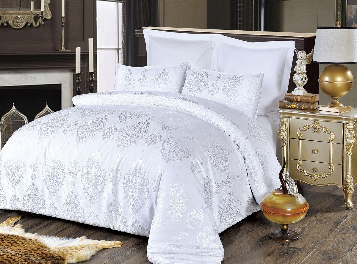 Комплект белья Modalin, 2-спальный, наволочки 50х70, 70x70. 5065391602Комплект постельного белья Modalin, выполненный из сатина (100% хлопка), создан для комфорта и роскоши. Комплект состоит из пододеяльника, простыни и 4 наволочек. Постельное белье оформлено оригинальным орнаментом и кружевом. Пододеяльник застегивается на молнию, что позволяет одеялу не выпадать из него.Сатин - хлопчатобумажная ткань полотняного переплетения, одна из самых красивых, прочных и приятных телу тканей, изготовленных из натурального волокна. Благодаря своей шелковистости и блеску сатин называют хлопковым шелком.