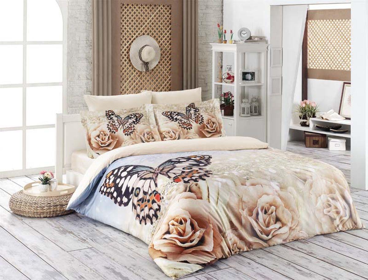 Комплект белья Karna Romantic, 2-спальный, наволочки 50х70391602Постельное белье Karna Romantic - истинный подарок от великих мастеров, знающих свое дело. Это красота и роскошь. Это стиль и уют в спальне. Комплект выполнен из сатина (100 % хлопка) и состоит из пододеяльника, четырех наволочек и простыни.Karna - это постельное белье для ценителей красоты и удобства.