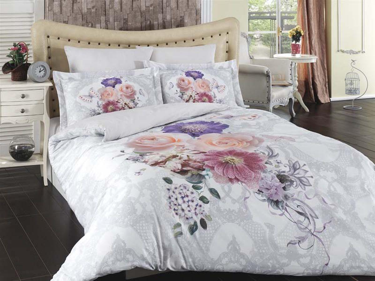 Комплект белья Karna Lavin, 1,5-спальный, наволочки 50х70702165Постельное белье Карна - истинный подарок от великих мастеров, знающих свое дело. Это красота и роскошь. Это стиль и уют в спальне. Karna - это постельное белье для ценителей красоты и удобства.