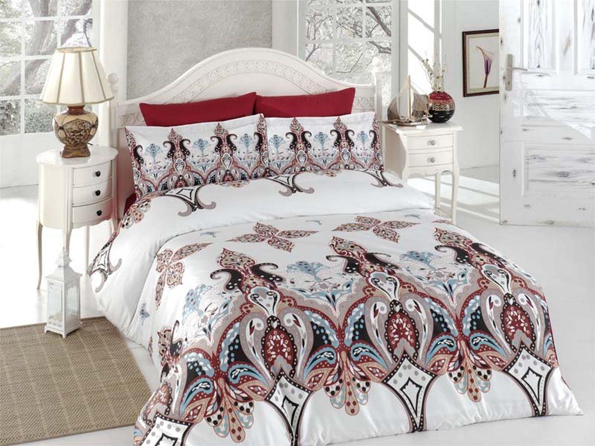 Комплект белья Karna Eplika, 1,5-спальный, наволочки 50х7040б-1ХКссПостельное белье Карна - истинный подарок от великих мастеров, знающих свое дело. Это красота и роскошь. Это стиль и уют в спальне. Karna - это постельное белье для ценителей красоты и удобства.
