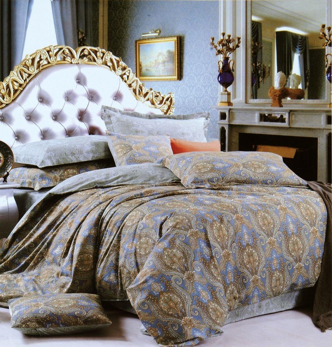 Комплект белья Modalin Eniko, 2-спальный, наволочки 50х70, 70x70CLP446Комплект постельного белья Modalin, выполненный из сатина (100% хлопка), создан для комфорта и роскоши. Комплект состоит из пододеяльника, простыни и 4 наволочек. Постельное белье оформлено оригинальным орнаментом. Пододеяльник застегивается на пуговицы, что позволяет одеялу не выпадать из него.Сатин - хлопчатобумажная ткань полотняного переплетения, одна из самых красивых, прочных и приятных телу тканей, изготовленных из натурального волокна. Благодаря своей шелковистости и блеску сатин называют хлопковым шелком.