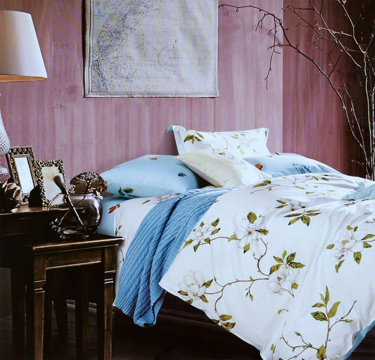 Комплект белья Modalin Katalin, 2-спальный, наволочки 50х70, 70x70391602Комплект постельного белья Modalin, выполненный из сатина (100% хлопка), создан для комфорта и роскоши. Комплект состоит из пододеяльника, простыни и 4 наволочек. Постельное белье оформлено цветочным орнаментом. Пододеяльник застегивается на пуговицы, что позволяет одеялу не выпадать из него.Сатин - хлопчатобумажная ткань полотняного переплетения, одна из самых красивых, прочных и приятных телу тканей, изготовленных из натурального волокна. Благодаря своей шелковистости и блеску сатин называют хлопковым шелком.