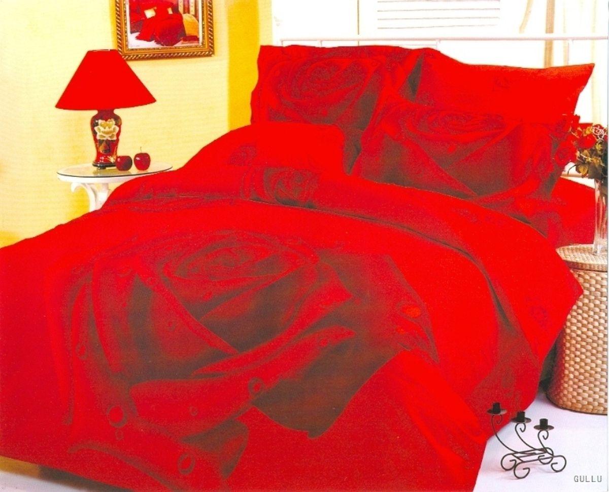 Комплект белья Le Vele Gullu, 2-спальный, наволочки 50х70740/10Комплект постельного белья Le Vele Gullu, выполненный из сатина (100% хлопка), создан для комфорта и роскоши. Комплект состоит из пододеяльника, простыни и 4 наволочек. Постельное белье оформлено цветочным рисунком. Пододеяльник застегивается на кнопки, что позволяет одеялу не выпадать из него.Сатин - хлопчатобумажная ткань полотняного переплетения, одна из самых красивых, прочных и приятных телу тканей, изготовленных из натурального волокна. Благодаря своей шелковистости и блеску сатин называют хлопковым шелком.