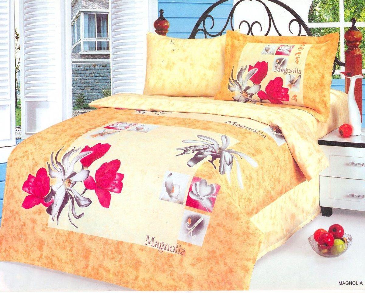Комплект белья Le Vele Magnolia, 2-спальный, наволочки 50х70740/90Комплект постельного белья Le Vele Magnolia, выполненный из сатина (100% хлопка), создан для комфорта и роскоши. Комплект состоит из пододеяльника, простыни и 4 наволочек. Постельное белье оформлено оригинальным рисунком. Пододеяльник застегивается на кнопки, что позволяет одеялу не выпадать из него.Сатин - хлопчатобумажная ткань полотняного переплетения, одна из самых красивых, прочных и приятных телу тканей, изготовленных из натурального волокна. Благодаря своей шелковистости и блеску сатин называют хлопковым шелком.