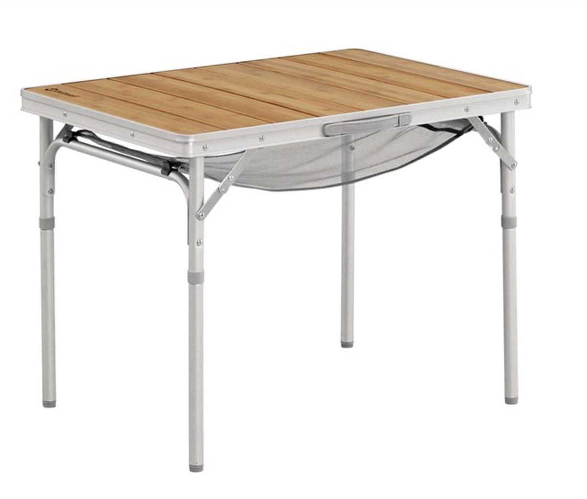 Стол складной Outwell Calgary S, 75 х 55 х 59 см530027Элегантный бамбуковый стол Outwell Calgary S сочетает в себе красоту природы и современный дизайн – соседи по кемпингу точно будут завидовать. Этот портативный стол очень компактен и легок. Пригодится на любом пикнике или кемпинге.Особенности:Практичная полка-сеткаОчень быстро складывается и раскладываетсяМалый весПрочная бамбуковая поверхность и алюминиевый каркасРучки для переноскиВ сложенном виде очень компактен