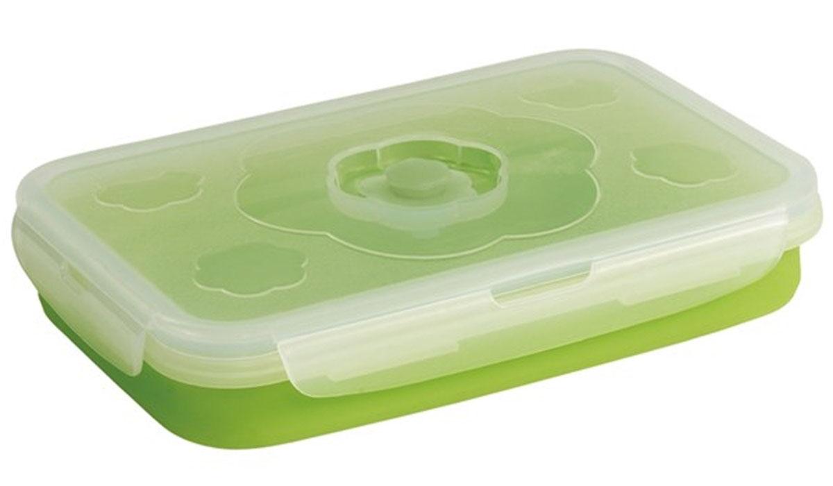 Контейнер Outwell Collaps Food Box M, цвет: зеленый737903Контейнер для еды Outwell Collaps Food Box выполнен из силикона и пластика. Эти материалы безопасны для пищевых продуктаов, посколькуони не вступают в реакцию с пищей и не выделяют вредных веществ. Контейнер можно использовать для хранения как горячих, так и холодныхпродуктов.Он удобен в применении на природе, в турпоходах, на рыбалке. В сложенном виде он практически плоский, поэтому поместится в рюкзаке илисумке.Контейнер противоударный, он легко моется. Очень быстро складывается и раскладывается.Размер в разложенном виде: 20 х 13 х 8 см.Размер в сложенном виде: 20 х 13 х 3.5 см.