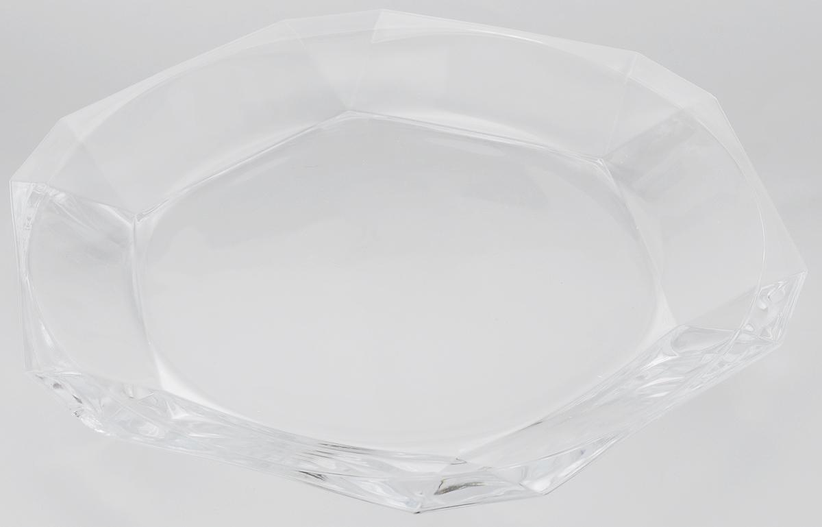 Тарелка Pasabahce Reflection, 30 х 32 смFS-91909Тарелка Pasabahce Reflection выполнена из прозрачного высококачественного натрий-кальций-силикатного стекла, предназначена для красивой сервировки различных блюд. Известно каждому, что еда способна утолить голод, а вкусная еда - еще и приносить удовольствие. Но только став обладателем такой тарелки, можно понять, что еда - это еще и возможность создать себе прекрасное настроение. Размеры тарелки позволяют легко вместить даже самую большую порцию.Подходит для хранения в холодильнике. Можно мыть в посудомоечной машине. Размер тарелки: 30 х 35 см.