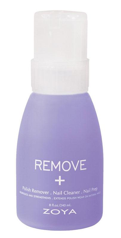 Zoya-Qtica Жидкость для снятия лака для ногтей 3-в-1 Remove+ 237 мл5010777139655Инновационная формула выходит за пределы возможностей, объединяя действие трех продуктов в одном! Увлажняет, питает и укрепляет ногтевую пластину. Remove+ также действует как очищающее средство для ногтей и подготавливает ногти для нанесения лака, удаляя все следы лака для ногтей. Мягкая формула с ацетоном не вызывает пересушивания ногтей. Используйте для очищения и подготовки ногтевых пластин перед нанесением базового покрытия и заметного увеличения стойкости лака.