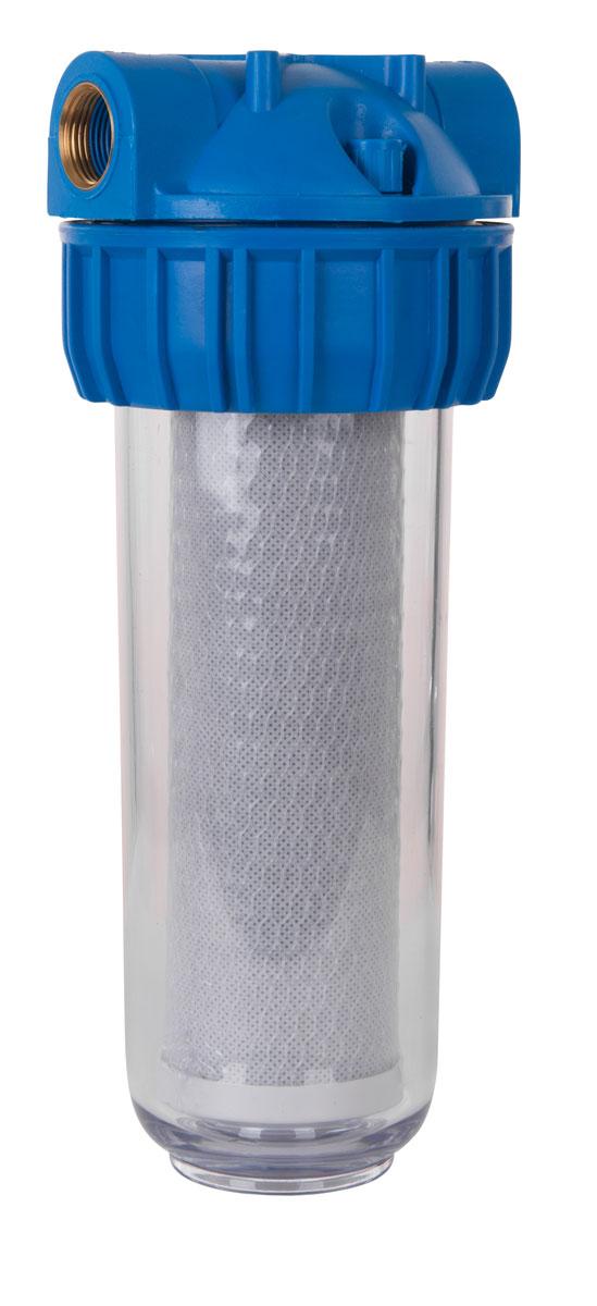 Фильтр для воды Фибос, магистральный, обезжелезивающий, 1 м3/ч29351Универсальный фильтр-сорбент Фибос применяется для очистки от растворенного железа, марганца, хлора, нефтепродуктов, фенолов, тяжелых металлов (мышьяка, ртути, олова), уменьшения цветности и улучшения органолептических свойств воды! Корпус изготовлен из высокопрочного пластика.Длина: 123 мм.Высота: 320 мм.Диаметр присоединения: 3/4.