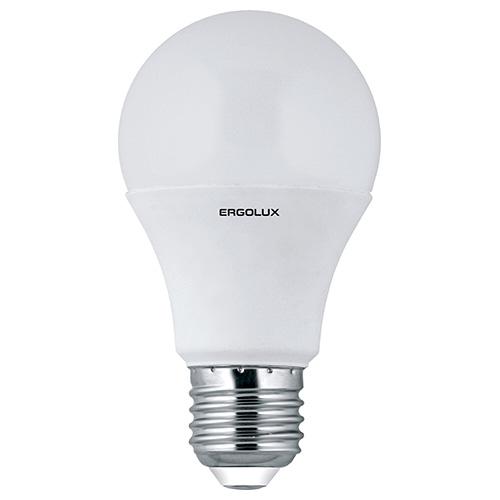 Лампа светодиодная Ergolux LED-A60, холодный свет, цоколь E27, 7 Вт12147Светодиодная лампа Ergolux LED-A60 - новое решение в светотехнике. Такая лампа экономит много электроэнергии благодаря низкой потребляемой мощности. Она идеально подходит для основного и акцентного освещения интерьеров, витрин, декоративной подсветки. Кроме того, светодиодная лампа создает уютную атмосферу и позволяет экономить электроэнергию уже с первого дня использования.