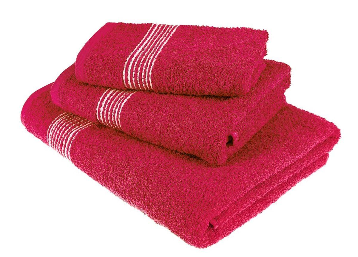 Набор полотенец Тако Текстиль, цвет: красный, 3 шт. 8814468/5/3Перед использованием постирать при температуре не выше 40 градусов