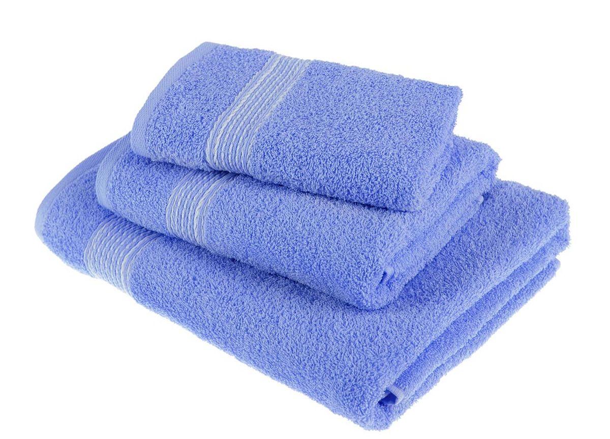 Набор полотенец Тако Текстиль, цвет: светло-синий, 3 шт. 88174S03301004Перед использованием постирать при температуре не выше 40 градусов