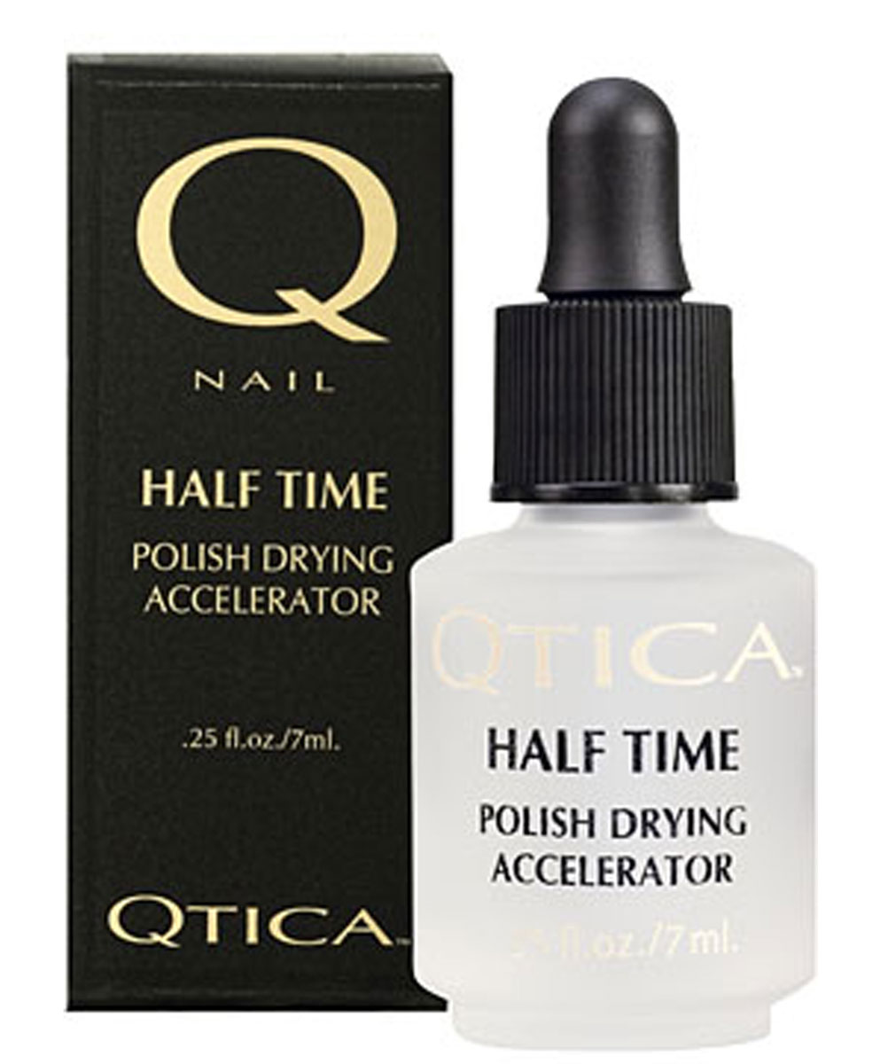 Zoya-Qtica Средство для быстрого высыхания лака для ногтей Qtica Халф Тайм, 7 млSC-FM20104КЛЮЧЕВОЕ СВОЙСТВОПодсушивает лак полностью до базового покрытия в течение 5-7 минут!ПРЕИМУЩЕСТВАСушка Half Time Polish Drying Accelerator подсушивает все слои лака, одновременно препятствуя смешиванию слоев ба- зового покрытия, цвета и верхнего покрытия, предотвращая отслаивание лака и продлевая стойкость лака на 50%.ИНГРЕДИЕНТЫЖидкокристаллические соединения и силикон.