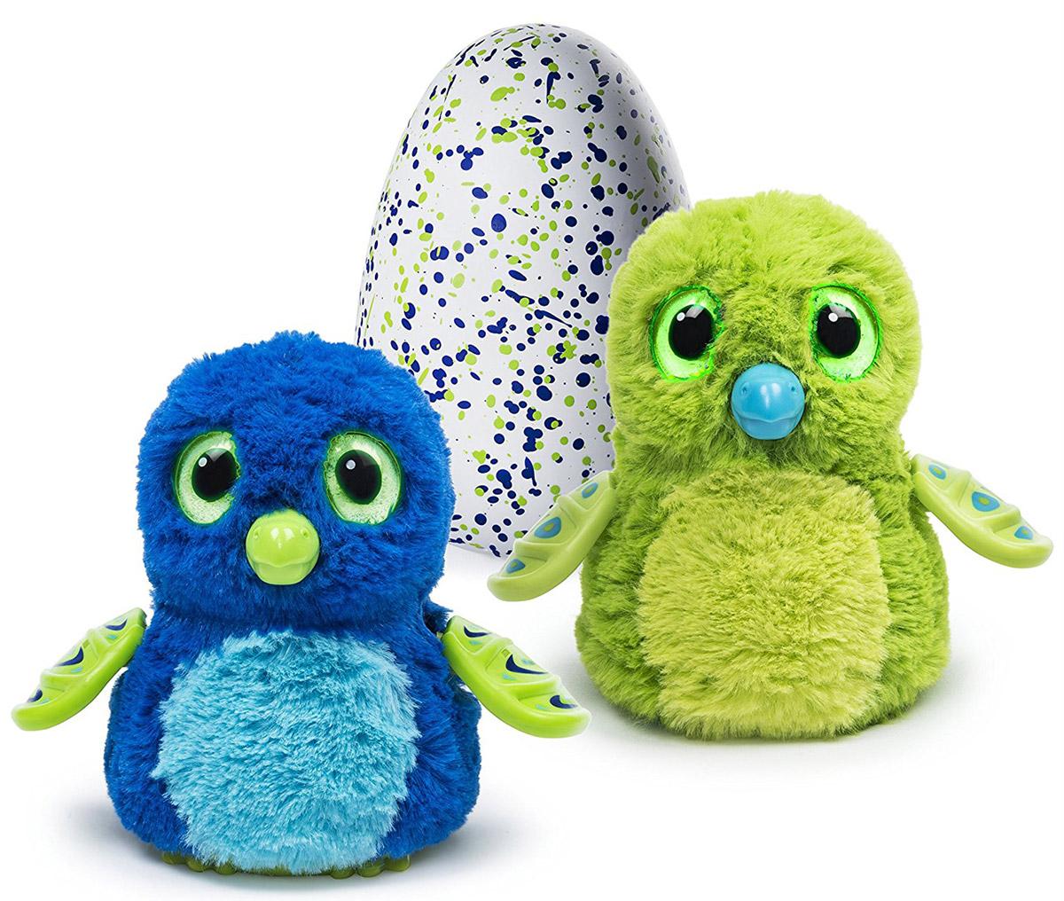 Hatchimals Интерактивная игрушка Дракоша цвет зеленый синий