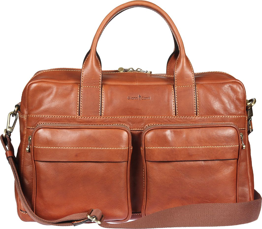Бизнес-сумка мужская Gianni Conti, цвет: рыжий. 911278EQW-M710DB-1A1Бизнес-сумка мужская Gianni Conti выполнена из натуральной кожи. Модель закрывается на двустороннюю молнию. Внутри большой отдел, в котором отделение для планшета, закрывающееся клапаном на липучке, карман на молнии, два кармашка для мелких предметов, держатель для авторучки. Снаружи на передней стенке два кармана на молнии, два кармашка на магнитной кнопке, на задней стенке - карман на молнии.Сумка оснащена съемным регулируемым плечевым ремнем на карабинах.