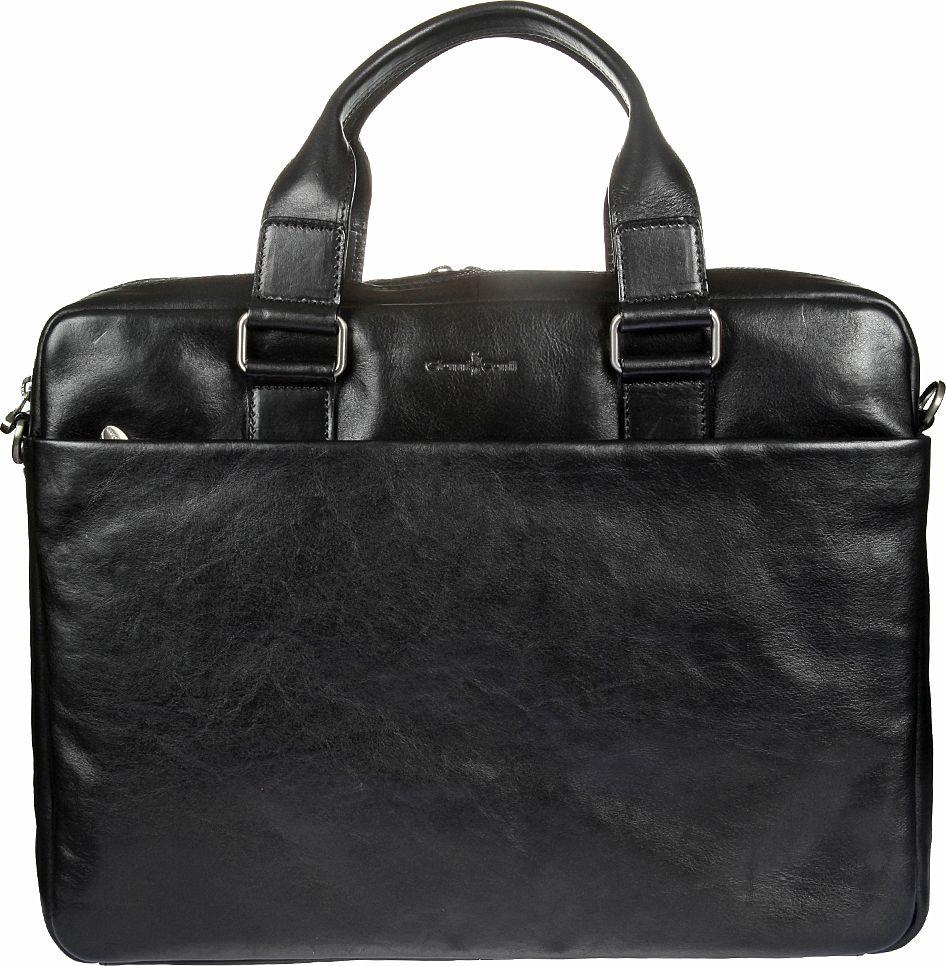 Бизнес-сумка мужская Gianni Conti, цвет: черный. 911265ML597BUL/DБизнес-сумка мужская Gianni Conti выполнена из натуральной кожи. Модель состоит из двух отделов, оба закрываются на молнию.Внутри отделение для планшета, закрывается клапаном на липучке, карман на молнии, два кармашка для мелких предметов, держатель для авторучки. Снаружи на передней и задней стенках карман на молнии. Сумка оснащена съемным регулируемым плечевым ремнем на карабинах.