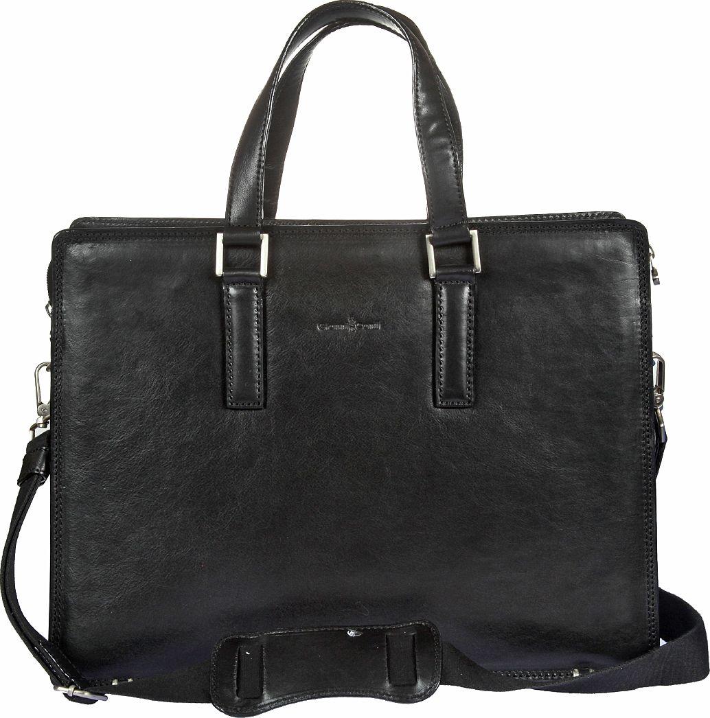 Бизнес-сумка мужская Gianni Conti, цвет: черный. 911248EQW-M710DB-1A1Бизнес-сумка мужская Gianni Conti выполнена из натуральной кожи. Модель закрывается на двустороннюю молнию. Внутри три отдела, один из них на молнии, имеется отделение для планшета, закрывающееся клапаном на липучке, а также карман на молнии, два кармашка для мелких предметов, держатель для авторучки. Снаружи на задней стенке карман на магнитной кнопке. Сумка оснащена съемным регулируемым плечевым ремнем на карабинах.