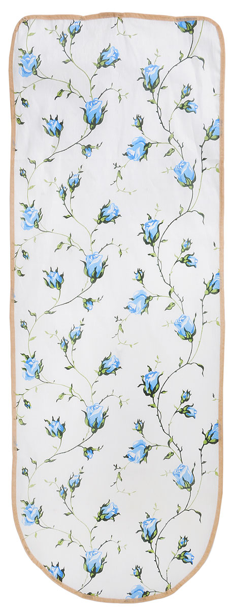 Чехол для гладильной доски Detalle Синие цветы, 125 х 47 смGC020/00Чехол для гладильной доски Detalle Синие цветы, выполненный из хлопка с подкладкой из мягкого войлокообразного полотна (ПЭФ), предназначен для защиты или замены изношенного покрытия гладильной доски. Чехол снабжен стягивающим шнуром, при помощи которого вы легко отрегулируете оптимальное натяжение чехла и зафиксируете его на рабочей поверхности гладильной доски.Из войлокообразного полотна вы можете вырезать подкладку любого размера, подходящую именно для вашей доски. Этот качественный чехол обеспечит вам легкое глажение. Он предотвратит образование блеска и отпечатков металлической сетки гладильной доски на одежде. Войлокообразное полотно практично и долговечно в использовании. Размер чехла: 125 x 47 см.Максимальный размер доски: 120 х 42 см.Размер войлочного полотна: 130 х 52 см.