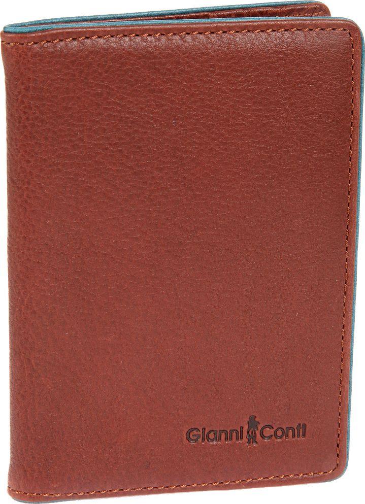 Обложка для паспорта мужская Gianni Conti, цвет: коричневый. 175749321/0525/117Обложка для паспорта мужская Gianni Conti выполнена из натуральной кожи. Обложка раскладывается пополам, внутри левое поле 4 см, правое поле 3,5 см.