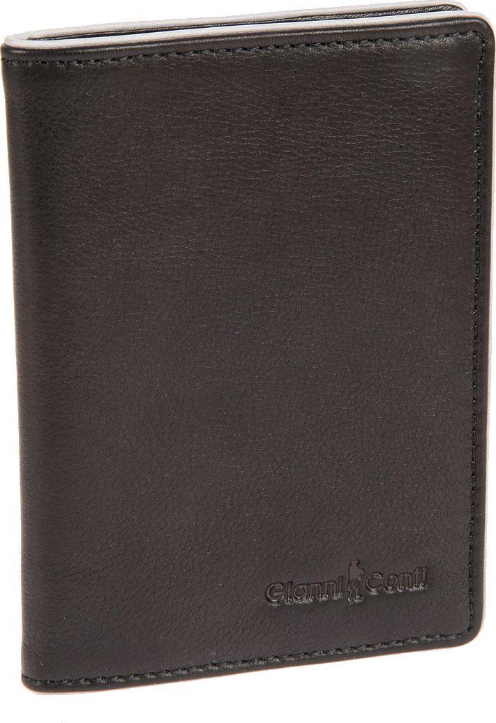 Обложка для паспорта мужская Gianni Conti, цвет: черный. 1757493325_коричневыйОбложка для паспорта мужская Gianni Conti выполнена из натуральной кожи. Обложка раскладывается пополам, внутри левое поле 4 см, правое поле 3,5 см.