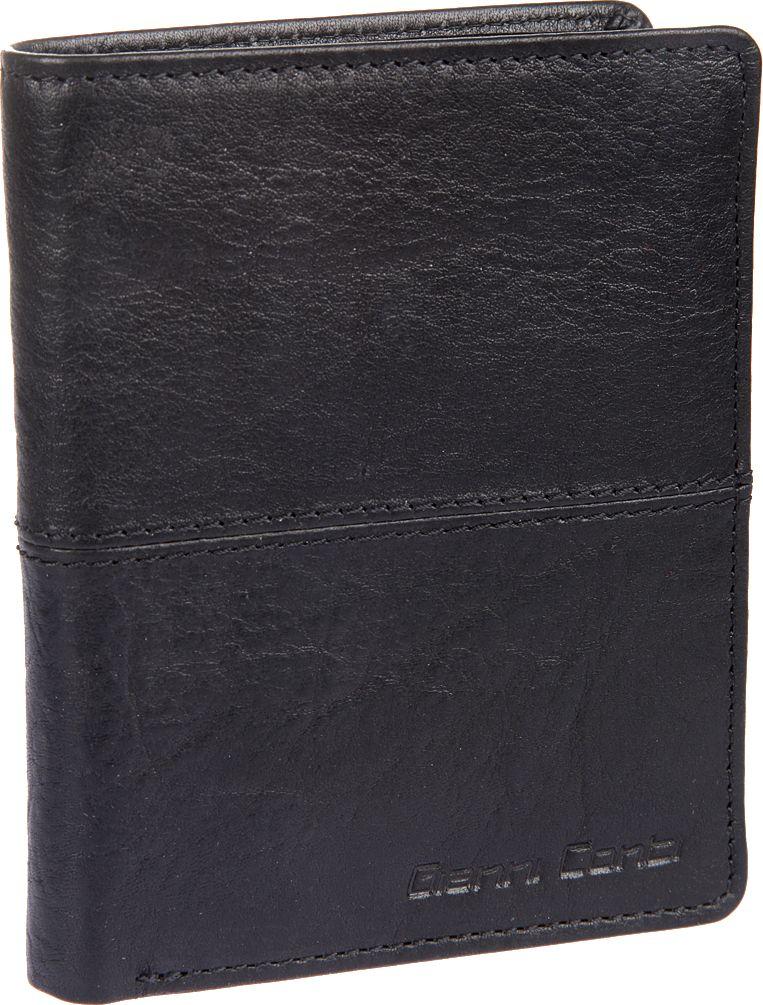 Портмоне мужское Gianni Conti, цвет: черный. 1137117E490300нМужское портмоне Gianni Conti выполнено из натуральной кожи. Модель раскладывается пополам,внутри два отдела для купюр, карман для мелочи, закрывается клапаном на кнопке, потайной карман, сетчатый карман для пропуска, десять кармашков для пластиковых карт.