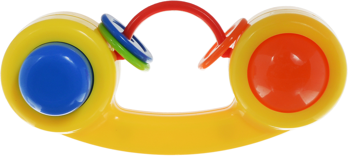 Малышарики Погремушка Телефон цвет желтый погремушка малышарики лягушка